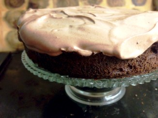 Healthy chocolate layer cake