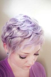 pastel colored pixie cuts