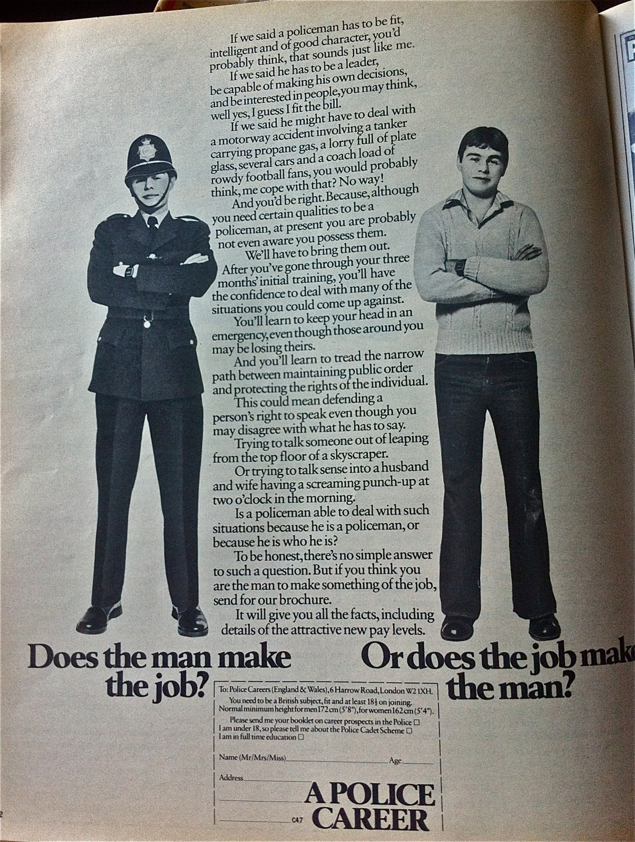 80s police ad