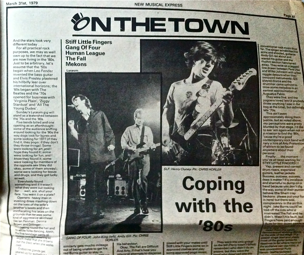 The night the 70s ended - says the NME