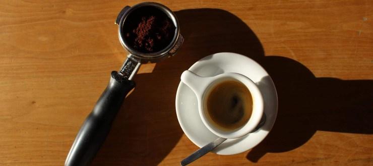 espresso shot on table