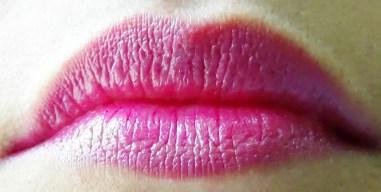 Revlon ColorBurst Lipstick Fuchsia Lip Swatch