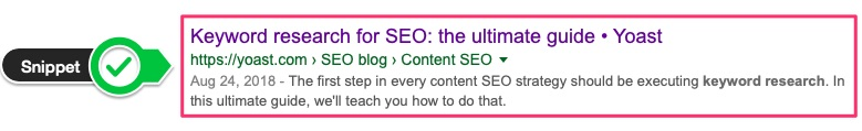 snippet in serps