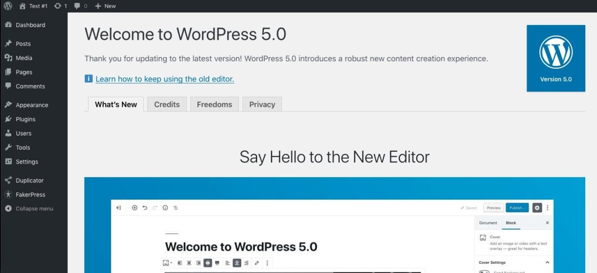 Welcome to WordPress 5.0