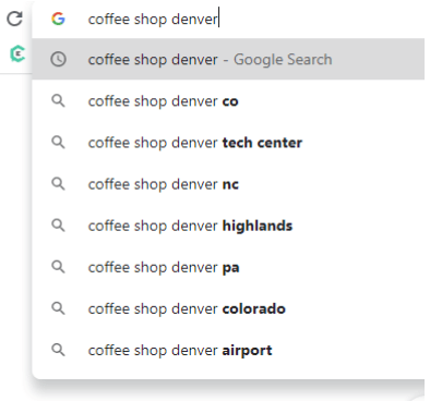 google autocomplete local SEO