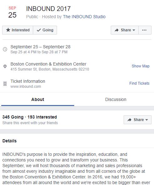 promote event facebook