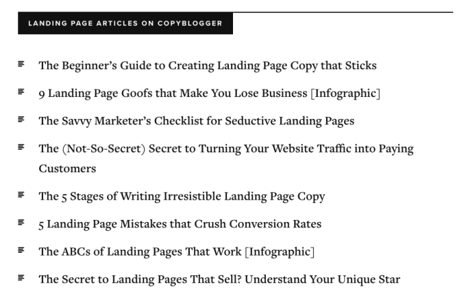 advanced SEO techniques copyblogger example useful content