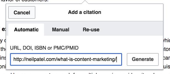 advanced SEO techniques add citation to wiki
