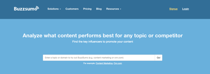 buzzsumo viral content marketing tool
