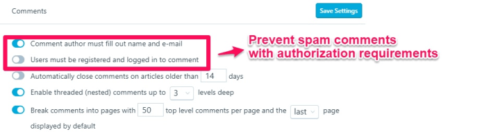 Bad SEO Tactic spam comments