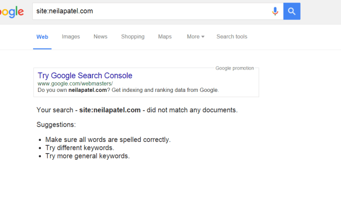 is my site indexed by google