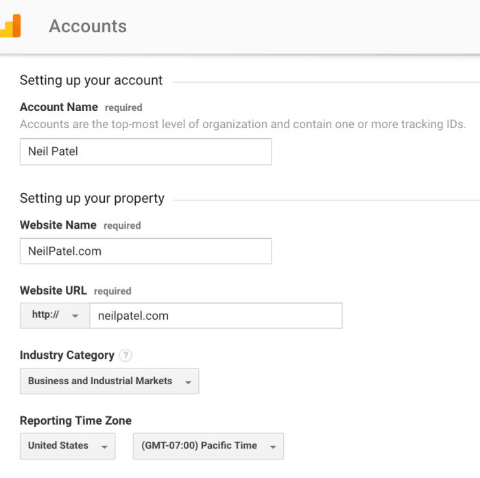 gett tracking ID for google analtyics