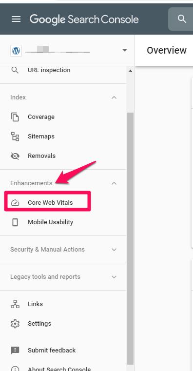 google serps core web vitals