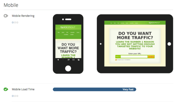 Mobile QuickSprout free SEO tools