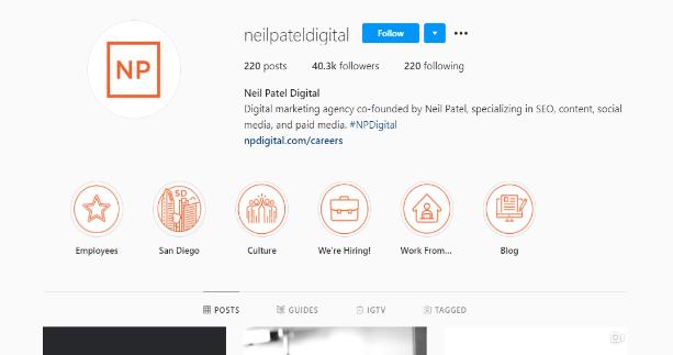 Instagram marketing optimization through customized business acount