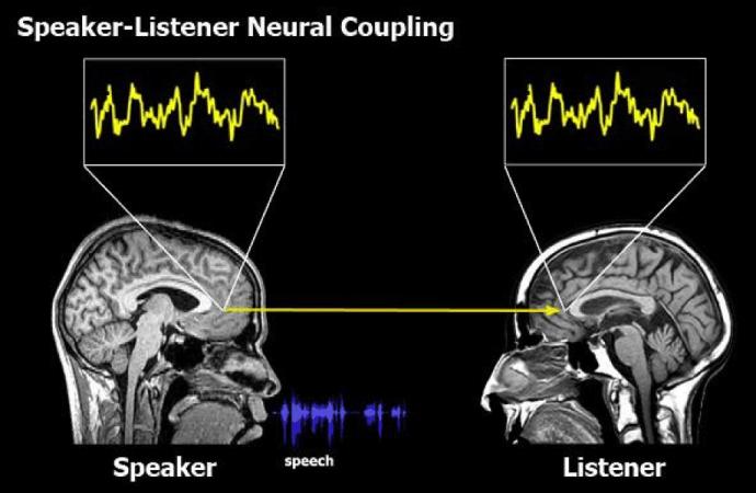 speaker listener neural coupling brand stories