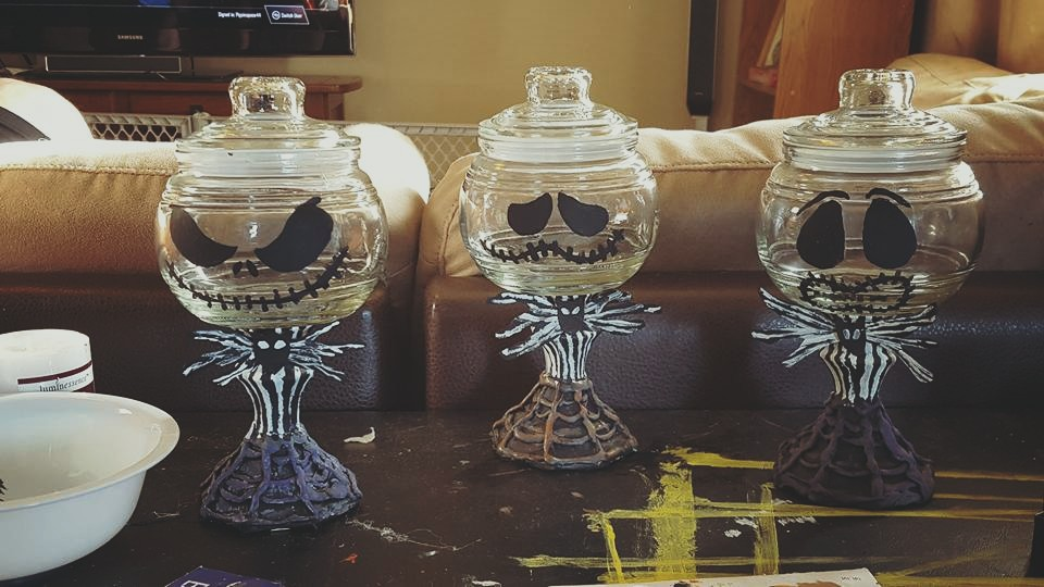 DIY Jack Skellington Candy Dish for Halloween  Shes One