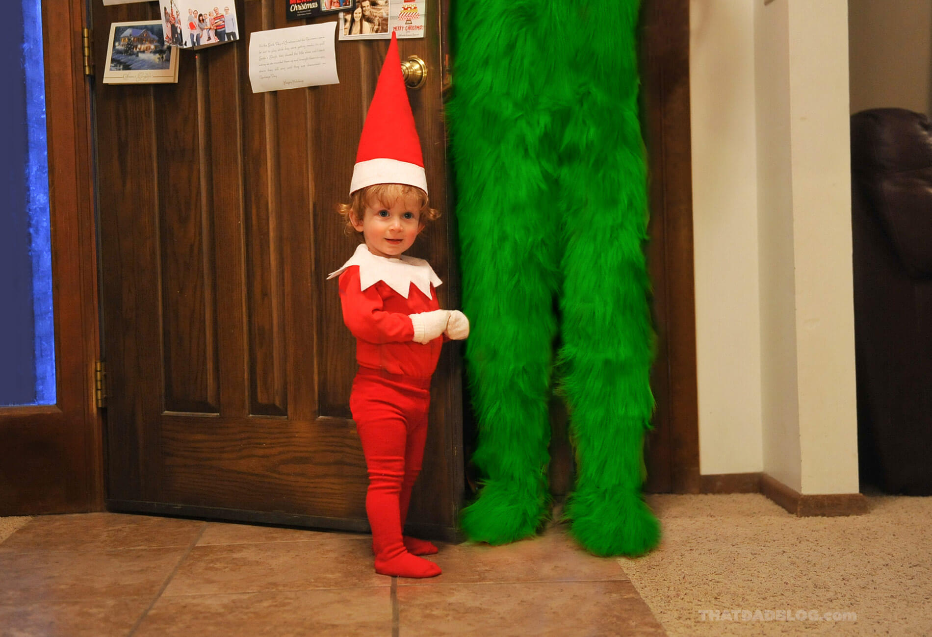 Real life elf on the shelf