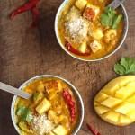 Mango Coconut Tofu Curry Vegan