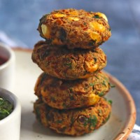 Oil-free Chana Corn Kebabs | Vegan Chickpea Kabab