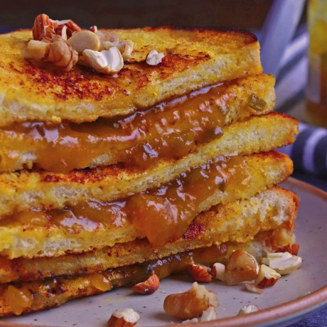 Mango Jalapeno Preserve Stuffed French Toast
