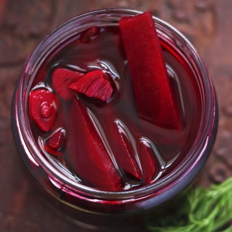 Instant Beetroot Pickle with Jaggery
