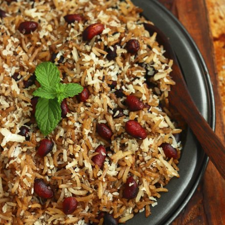 Peanut Sweet Rice With Coconut