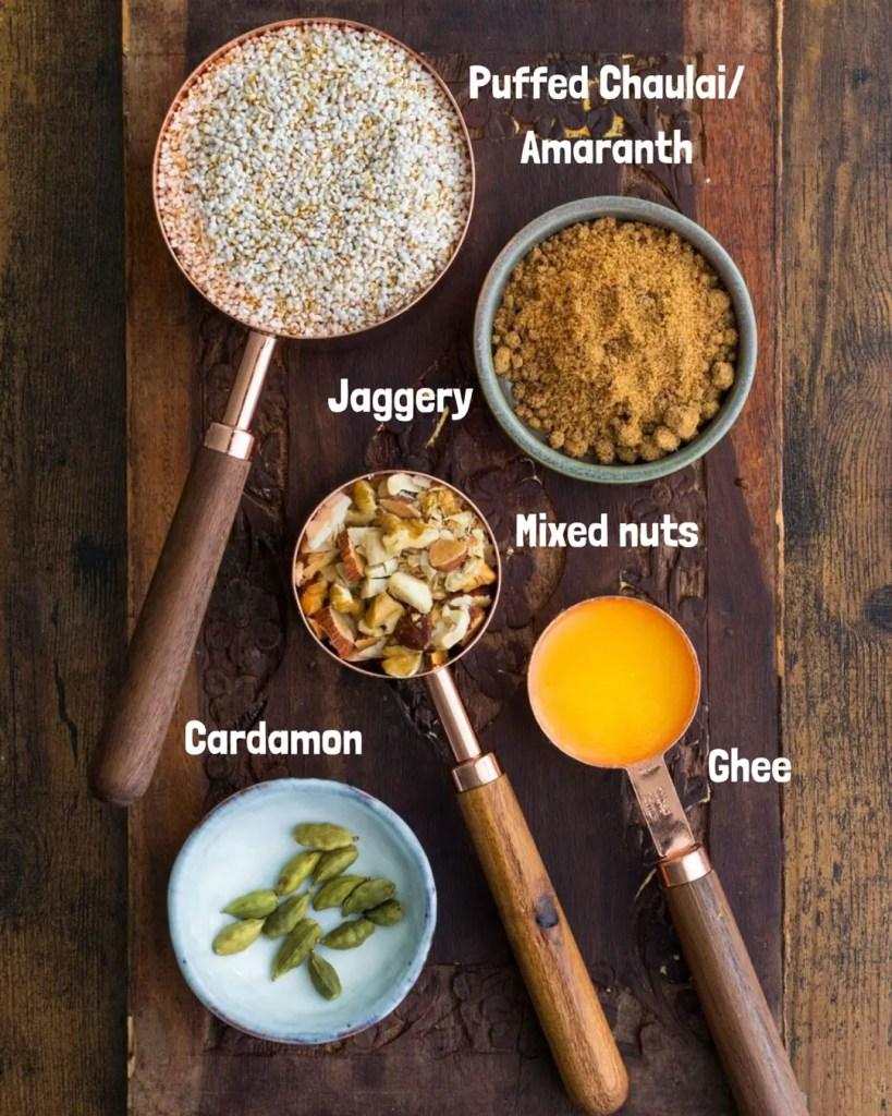 Chaulai Amaranth Halwa ingredients list