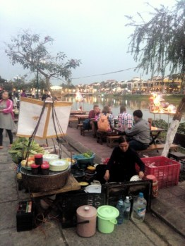 Street dining in Hoi An