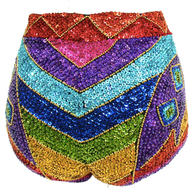 Rainbow Festival sequin shorts