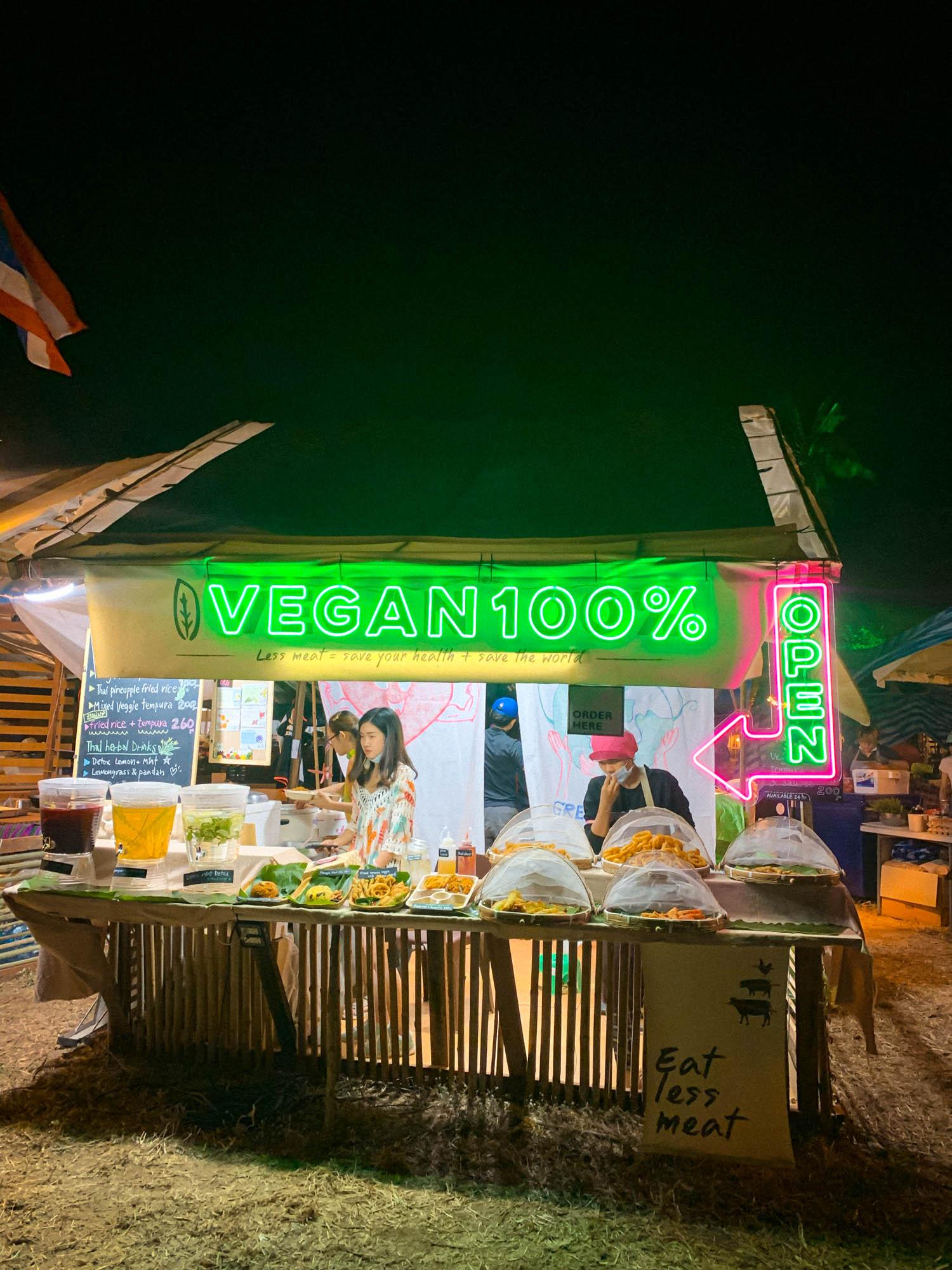 Vegan food at Wonderfruit