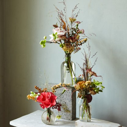Eclectic Bud Vase Arrangements | That Flower Shop | Weddings & Events