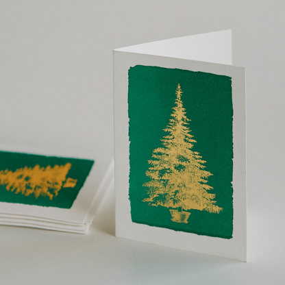 Archivist Letterpress Greeting Card | Pack of 5 Christmas Cards