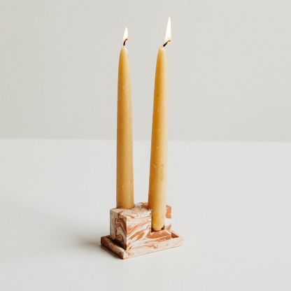 Rekha Maker Terracotta-Inspired Candlestick Holder