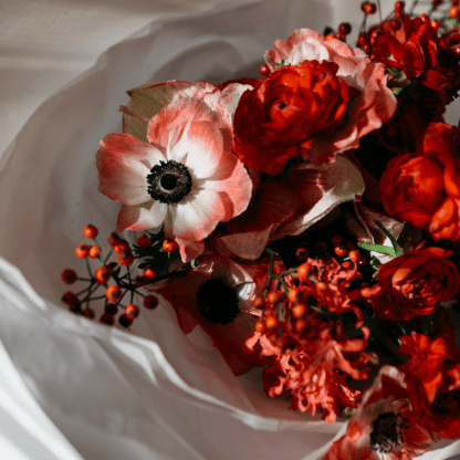 Festive Bouquet in Red | Seasonal Bouquet | Holiday Gift