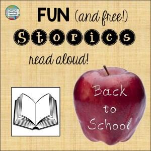 Back to School stories playlist free on ThatFunReadingTeacher.com