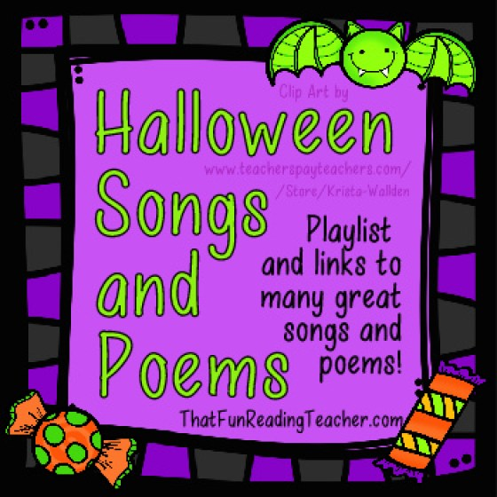 Halloween Songs & Poems free from ThatFunReadingTeacher.com