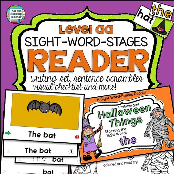 Halloween PreEmergent Reader and Writing Set