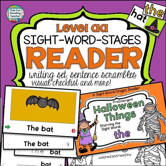 Halloween PreEmergent Reader and Writing Set