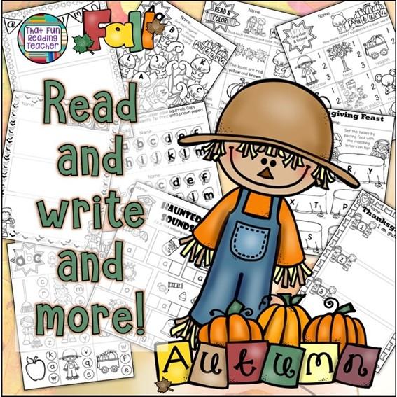 Fun Fall activities for kindergarten, first grade: Early literacy $