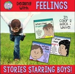 Feelings books - Teaching children about emotions (starring boys)   ThatFunReadingTeacher $