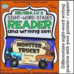 Monster Trucks #SWS Level 2 Reader