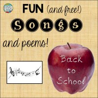 Back to School Songs and Poems