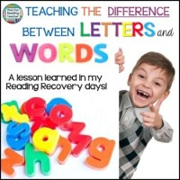 Teaching the difference between letters and words