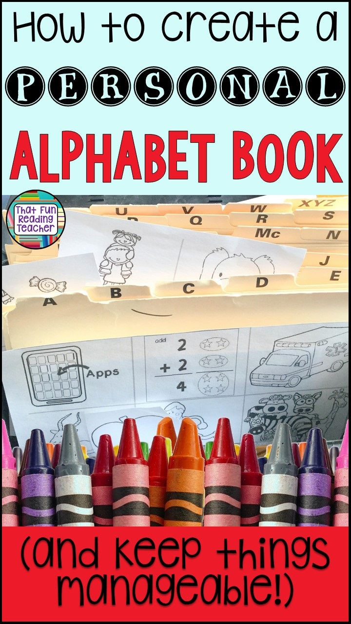 Considering creating personal alphabet books with your students? Here are some tips to help keep it manageable! #alphabetbook #tips #earlylearning #kindergarten #letters