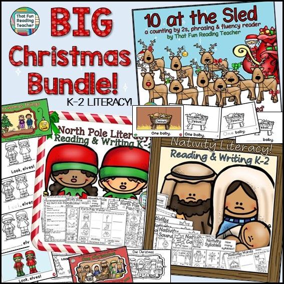 BIG Christmas Literacy Bundle K-3 $