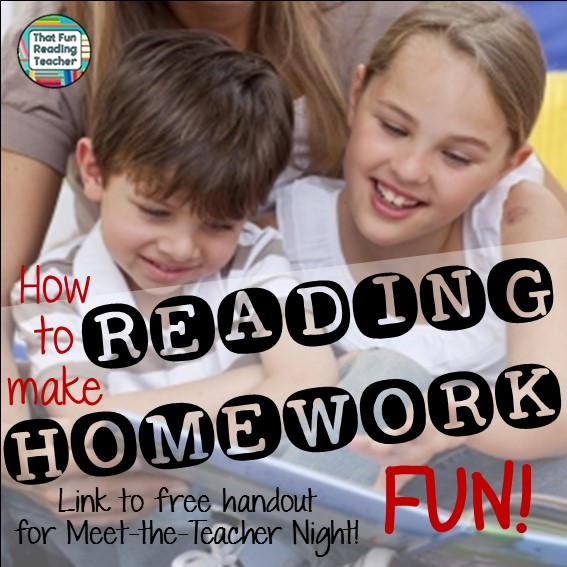 How to make reading homework FUN!