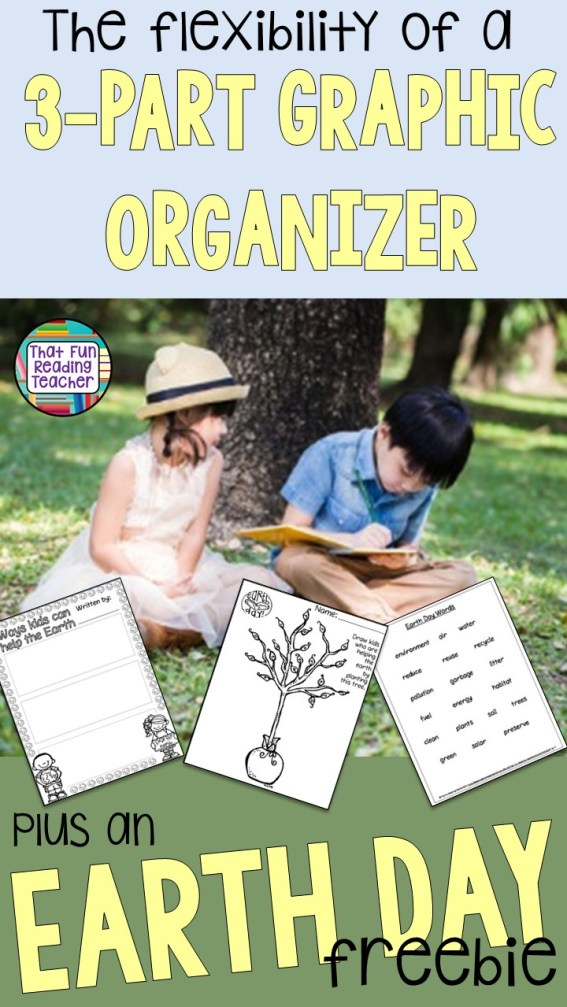 The flexibility of a 3 part graphic organizer - plus an earth day freebie!