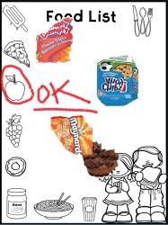 7 Food list blank