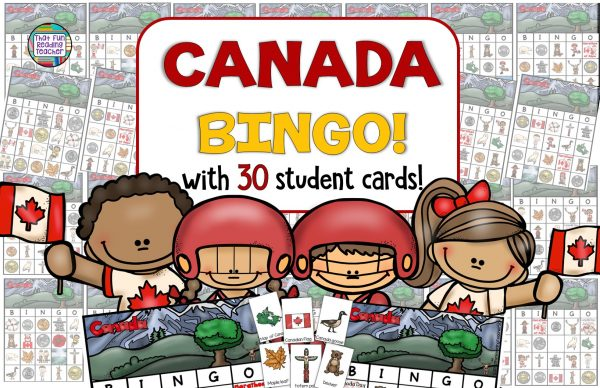 Do you know anyone who could benefit from a Canadian vocabulary game? Canada BINGO is a fun way to learn words unique to Canada, practice naming Canada's coins, landmarks, animals native to Canada and more fun social studies facts!